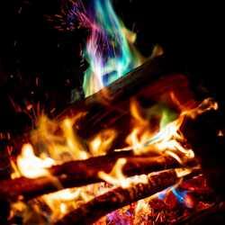 greeting e-card Bonfire at night