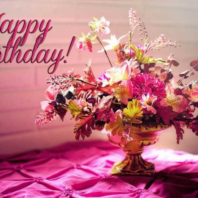 Daudz laimes dzimšanas dienā - rozā pušķis e-kartiņa