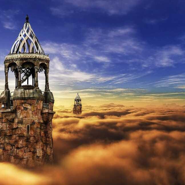 Fantāzijas torņi debesīs e-kartiņa