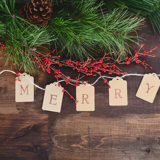Merry ziemassvētku kartiņa ar uzrakstu e-kartiņa
